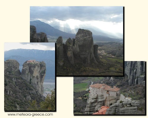 Meteora Rocks in Kalampaka, Greece